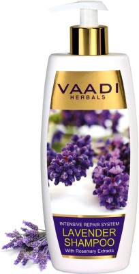 Vaadi Herbals Lavender Shampoo with Rosemary Extract, Intensive Repair System, 350 ML