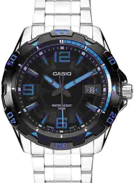 Casio MTD-1065D-1AVDF (A499) Enticer Silver Black Analog Men's Watch