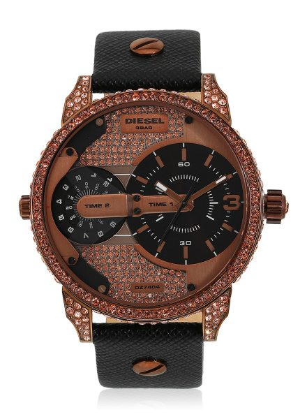 Diesel The Daddie Dz7404 Black & Rose Gold Analog Watch