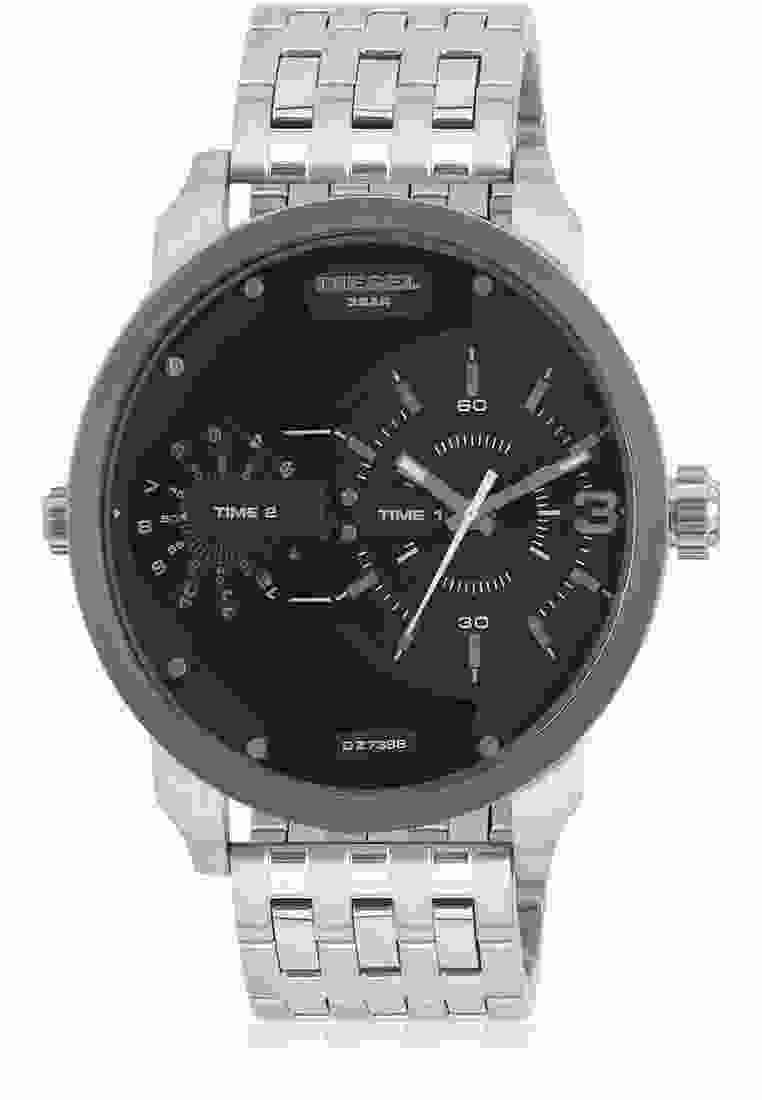 Diesel DZ7398 Black & Silver Toned Analogue Men's Watch (DZ7398)