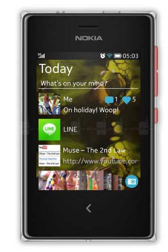 Nokia Asha 503 Red Mobile