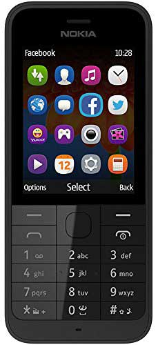 Nokia 220 128 MB Black Mobile