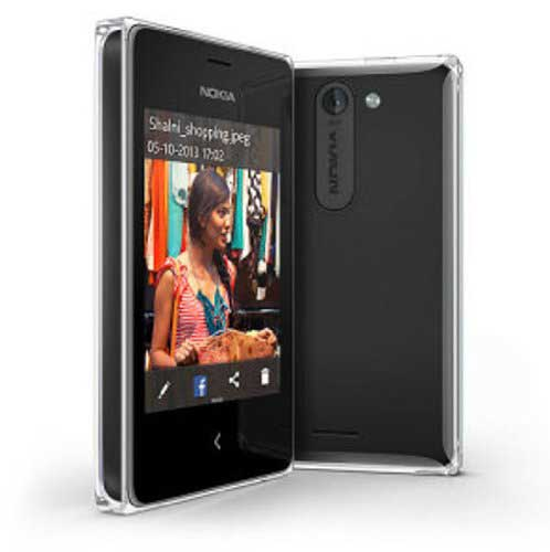 Nokia Asha 502 Black Mobile