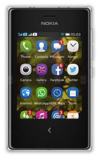 Nokia Asha 503 Black Mobile