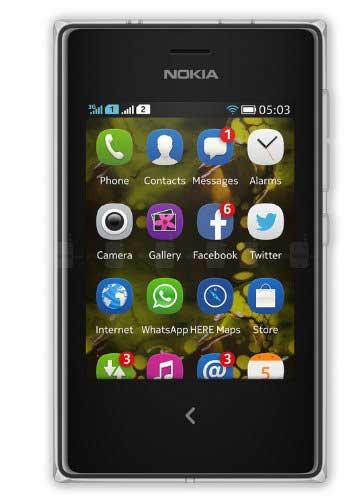 Nokia Asha 503 White Mobile