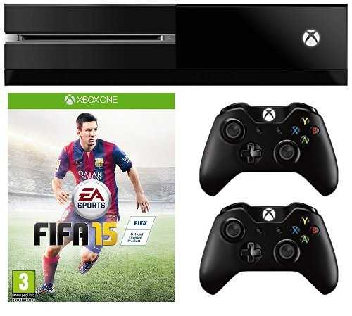 Microsoft Xbox One Console - Includes FIFA 15 DLC (Free Additional Controller Bundled)