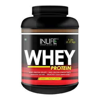 Inlife Whey Protein (2.26Kg, Cookies and Cream)
