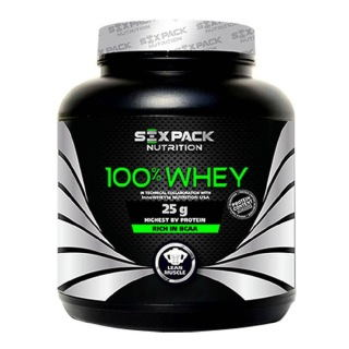 Six Pack Nutrition 100% Whey (4Kg / 8.81lbs, Caramel)