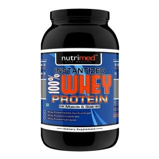 Nutrimed Instantized 100% Whey Protein (907gm / 2lbs, Chocolate)