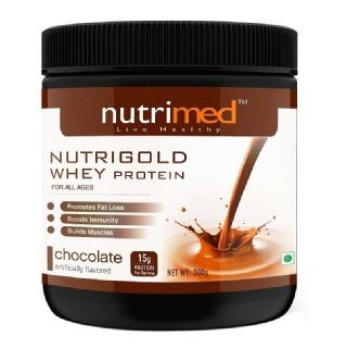 Nutrimed Nutrigold Whey Protein (300gm, Chocolate)