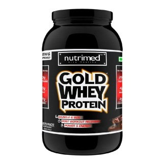 Nutrimed Gold Whey Protein (908gm, Butterscotch)
