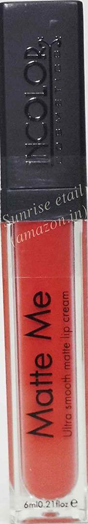 Incolor Matte Me Liquid Lipstick 408 - Coral Pinkish Orange