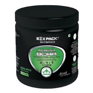 Six Pack Nutrition Instantised BCAA 2:1:1 (300gm, Apple)
