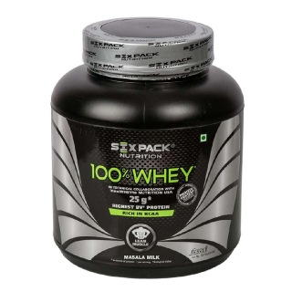 Six Pack Nutrition 100% Whey Protein (2Kg, Masala Milk)