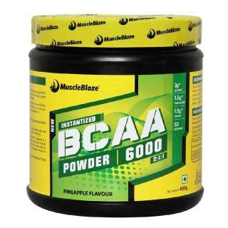 MuscleBlaze BCAA 6000 (0.88lbs, Pineapple)
