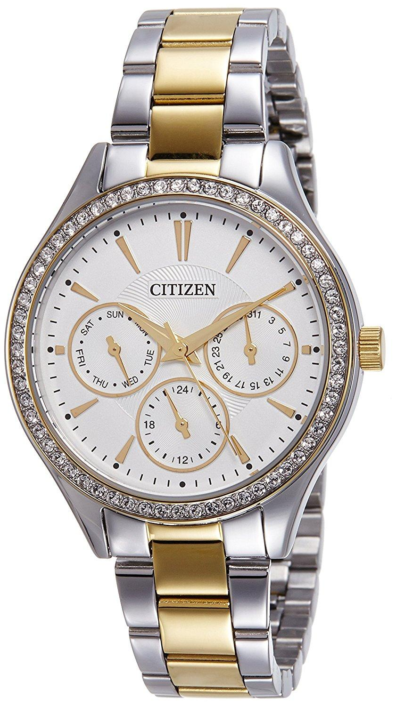 Citizen ED8164-59A Analog White Dial Women's Watch (ED8164-59A)
