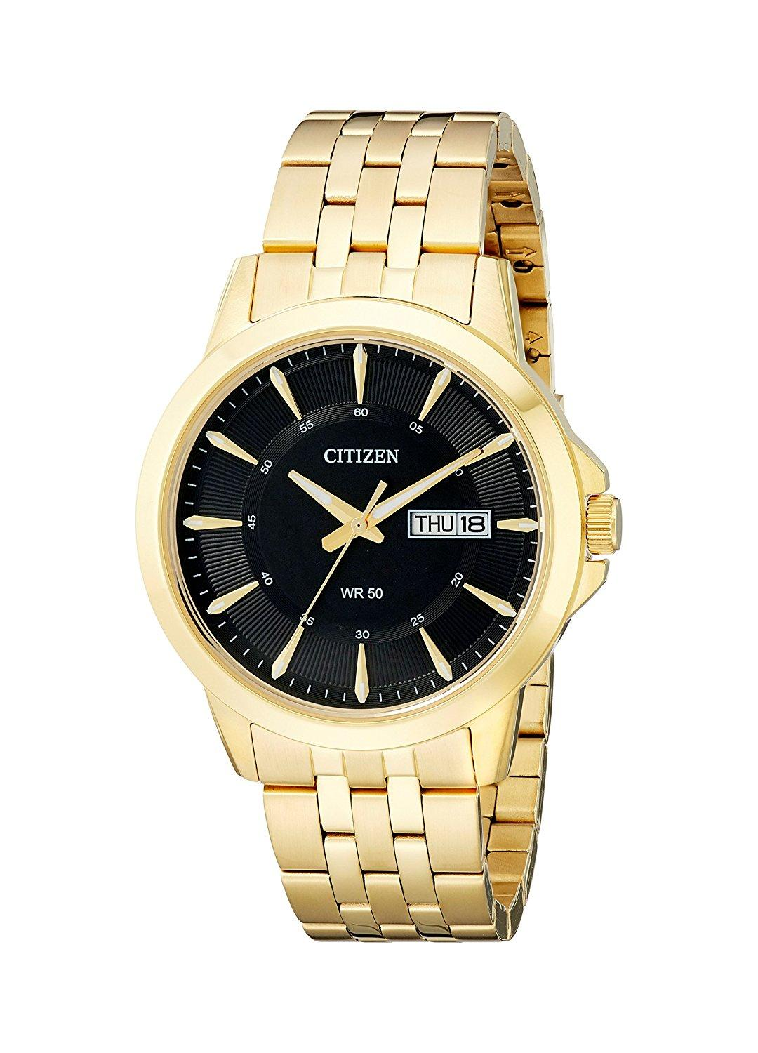 Citizen BF2013-56E Gold-Tone Stainless Steel Black Dial Men's Watch