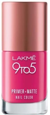 Lakme 9 to 5 Magenta Primer + Matte Nail Polish 9 ml