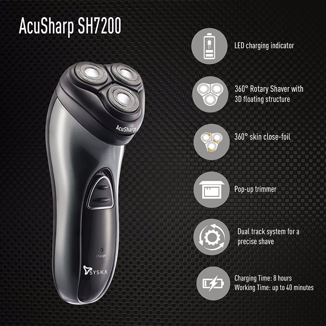 SYSKA SH7200 Shaver Black