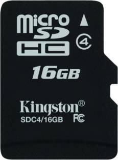 Kingston 16GB MicroSDHC Class 4 (4MB/s) Memory Card