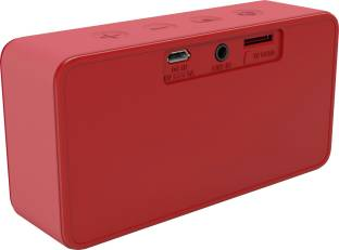 Philips BT64R Portable Bluetooth Speaker with Aux-In/TF, Red