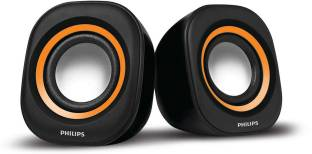 Philips SPA25G/94 2.0 Channel USB Speaker, Orange & Black