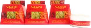 Vaadi Herbals Value Pack Of 3 Anti-Ageing Cream Almond Wheatgerm Oil and Rose