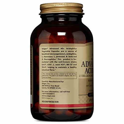 Solgar Advanced 40 Plus Acidophilus Supplements (120 Veg Capsules)