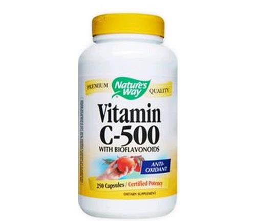Nature's Way Vitamin C 500 With Bioflavonoids 304gm (250 Capsules)