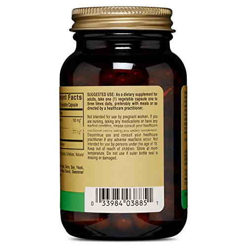 Solgar Full Potency Fenugreek Dietary Supplement (100 Capsules)