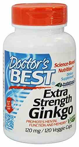 Doctor'S Best Extra Strength Ginkgo 120 mg Supplements (120 Capsules)