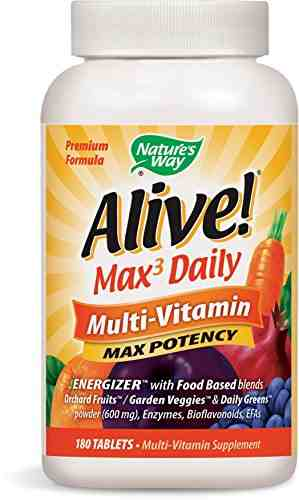 Nature's Way Alive Max Potency Multi Vitamin (180 Capsules)