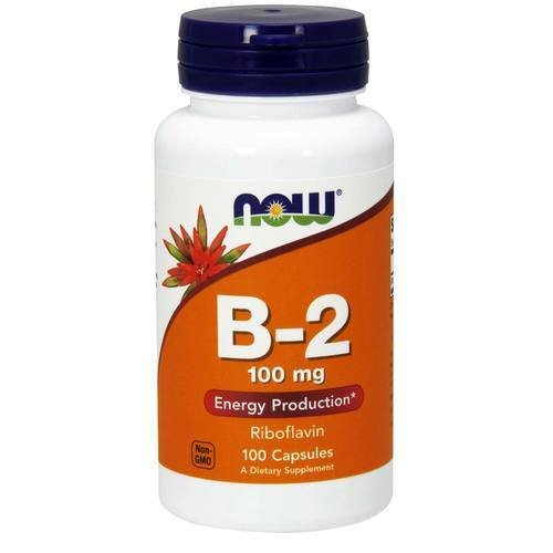 Now Foods B-2 Riboflavin 100 mg (100 Capsules)