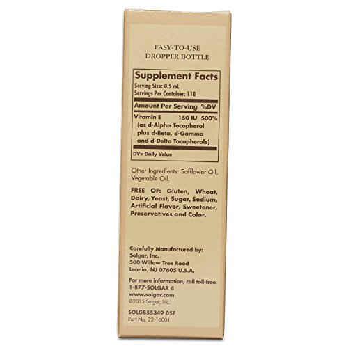 Solgar Liquid Vitamin E Mixed Tocopherol Complex Dropper (59 ml)