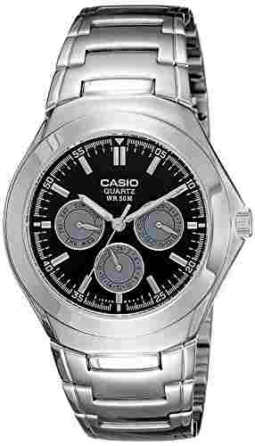 Casio Enticer MTP-1247D-1AVDF (A389) Tachymeter Black Dial Men's Watch