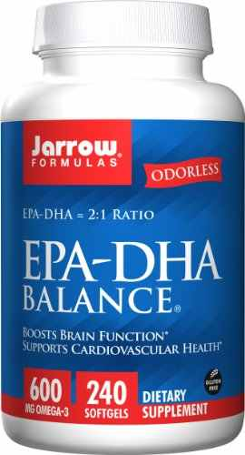 Jarrow Formulas EPA-DHA Balance Odorless Dietary Supplememnt (240 Capsules)