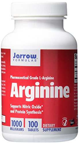 Jarrow Formulas L-Arginine Supplement 1000mg (100 Capsules)