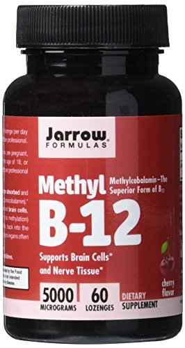 Jarrow Formulas Methyl B-12 5000 Mcg Supplement (60 Lozenges)