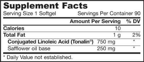Jarrow Formulas Conjugated Linoleic Acid (Cla) 750mg Dietary Supplement (90 Capsules)