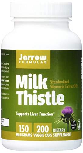 Jarrow Formulas Milk Thistle Standardized Silymarin Extract 150 mg (200 Capsules)