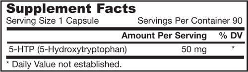 Jarrow Formulas 5-HTP 50 mg (90 Capsules)