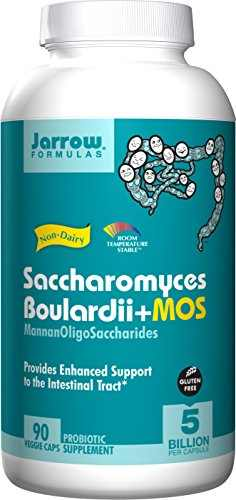 Jarrow Formulas Saccharomyces Boulardii MOS Probiotic Supplement (90 Capsules)