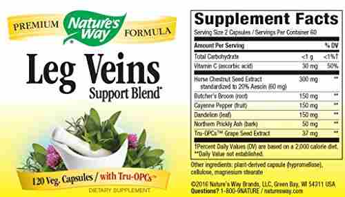 Nature's Way Leg Veins 435 mg (120 Capsules)