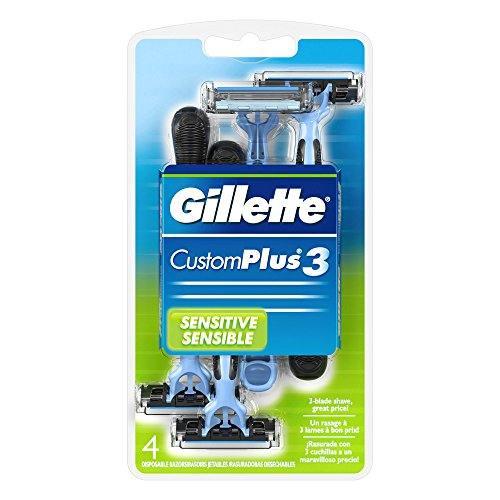 Gillette Customplus 3 Sensitive Disposable Razors 4 Each