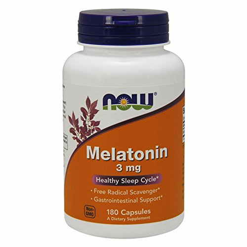 Now Foods Melatonin 3mg Dietary Supplement High Quality (180 Capsules)