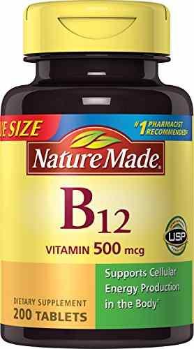 Nature's Made Vitamin B-12 500 mcg (200 Capsules)
