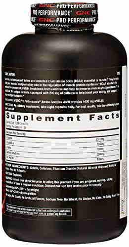 Gnc Amino Complex 4400 Pre Workout Supplements (240 Capsules)