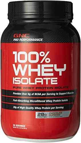 Gnc 100% Whey Isolate (908gm, Chocolate)