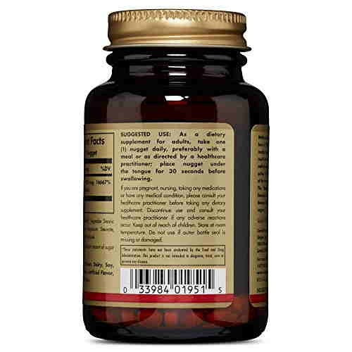 Solgar Methylcobalamin Vitamin B12 1000 mcg Supplements (60 Nuggets)