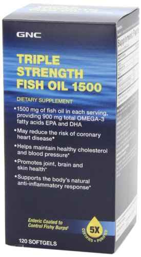 Gnc Triple Strength Fish Oil Supplements (120 Capsules)